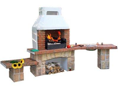 как построить печь барбекю своими руками фото